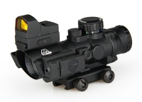 rifle scopes ebay - 4X Scope+1X17X23 Red Dot+Green Laser Sight