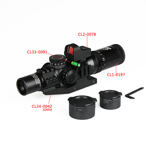 TOY SNIPER RIFLES WITH SCOPE - 1-4X24 IRF RED DOT-HAIKE OUTDOOR